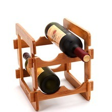 Bamboo&Wooden Wine Holder Racks, 4 Bottles Wine Display Racks pictures & photos