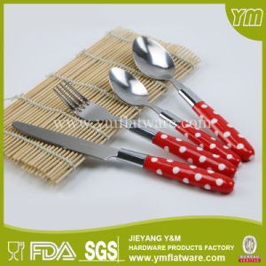 One Set Packing Plastic Handle Cutlery Reusable Plastic Flatware pictures & photos