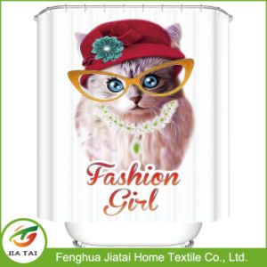 Shower Curtain Polyester Cute Cat Fancy Shower Curtains pictures & photos