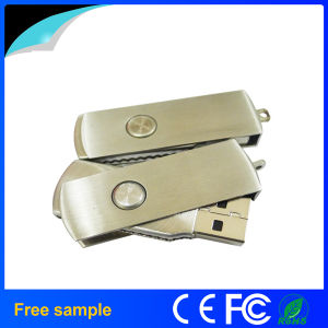 Wholesale Rectangle Silver Metal Rotation USB Flash Memory pictures & photos