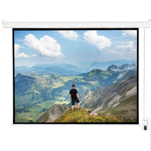 16: 9 135 Inch Motorized Tab Tensioned Projection Screen pictures & photos