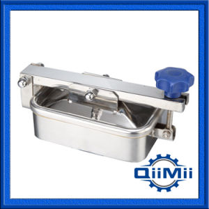 Sanitary Outward Openign Single Arm Rectangular Manhole for Tank pictures & photos