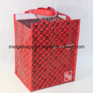 Non Woven Insulated Cooler Lunch Bag, with Magic Tape Closure pictures & photos