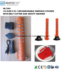 Rechargeable Safety Stick Warning Stick with Belt Cutter and Safety Hammer pictures & photos