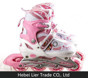 Hard Wearing Cotton Fabrics & Kids Roller Shoes pictures & photos