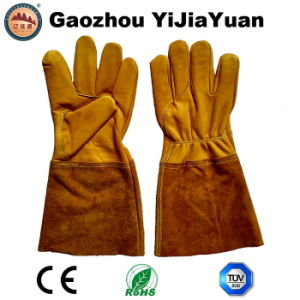 Cow Grain Leather Industrial Safety Welders Gloves for Welding pictures & photos