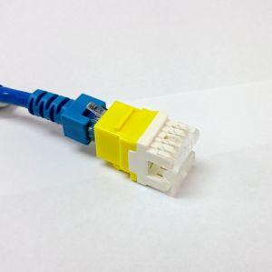 Multi-Color CAT6 RJ45 Punch-Down Keystone Jack Module Network Connector pictures & photos
