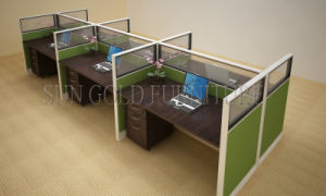 New Promotion Price Modern Green Office Partition Workstation Desk (SZ-WS697) pictures & photos