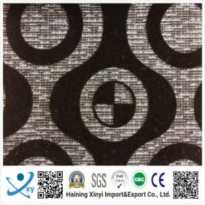 Hot Sale 100% Polyester Fabric for Sofa Velvet Flock Fabric pictures & photos