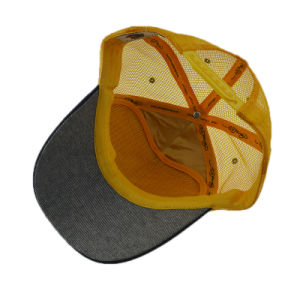 Custom Orange 5 Panel Cap Snapback Trucker Hat with Embroidery pictures & photos
