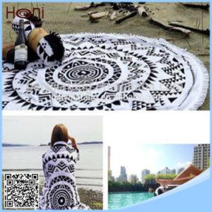 Printed 100% Cotton Round Mandala Beach Blanket Circle Beach Towel pictures & photos