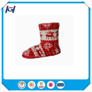 Cheap Ankle Nordic Reindeer Knit Slipper Boots for Women pictures & photos