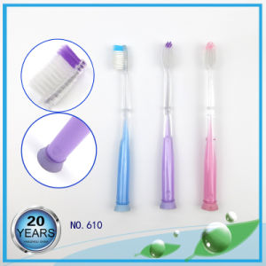 Soft Bristle Adult Toothbrush with Sucker Handle pictures & photos
