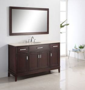 Luxury Glossy Design Double Sink Bathroom Furniture pictures & photos