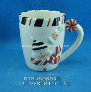 Hand-Painted Ceramic Snowmen Coffee/Tea Mug pictures & photos