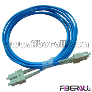 Sc Optical Fiber Patch Cord mm Duplex Blue Jacket pictures & photos
