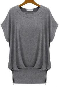 Popular Fashion Trendy Women′s Grey Cotton T Shirts (ELTWTI-7) pictures & photos