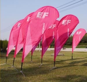 Customized Teardrop Feather Flag for Outdoor Advertising pictures & photos