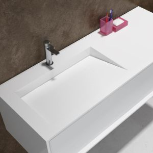 Popular Corian Wall-Hung Counter Top Basin (PB2068) pictures & photos