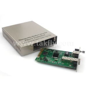 10/100/1000m Card Type Gigabit Managed Media Converter pictures & photos