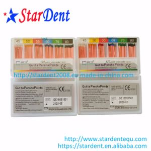 Dental Meta Gutta Percha Points (120 points color coded 0.02 taper) pictures & photos