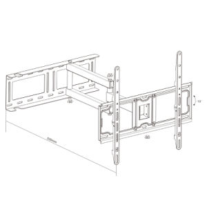 Full-Motion LED/LCD/PDP TV Mount Fit for 21-55′′ pictures & photos