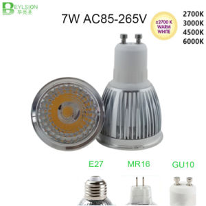 7W GU10 COB High Power Dimmable LED Spotlight pictures & photos