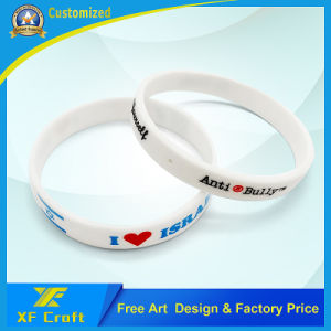Customized Segment Color Silicon Bracelets for Sport Competition (XF-WB10) pictures & photos