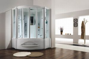 2 People Whirlpool Massage Steam Shower (M-8208) pictures & photos