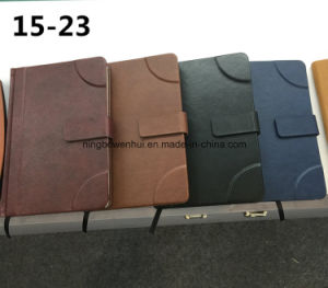 Customized Hardcover A5 PU Leather Notebook with Magnetic Closure