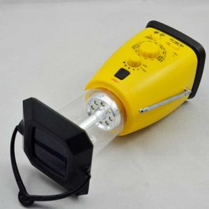 Solar Radio Hand Crank Self Powered Camping Flashlight Am/FM/Sw Radio for Outdoor Emergency Phone Charging pictures & photos