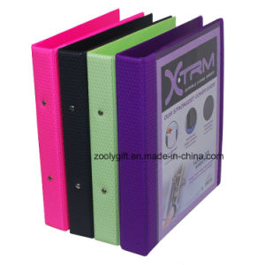 Logo Stamped A4 PVC 2-O Ring Binder File Folder with Inner Pocket pictures & photos