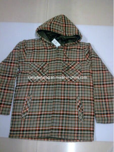 2014 Fashion Men Grid Cotton-Padded Outdoor Jacket for Winter Used
