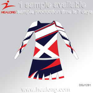 Healong Fashion Sublimated Team Women′ Cheerleading Uniform pictures & photos