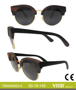 Fashion Wooden Sunglasees with High Quality (463-A) pictures & photos