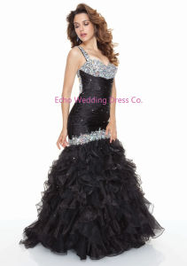Black Mermaid Prom Gown (EGS66)