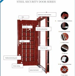 New Design and High Quality Steel Security Door (JC-007) pictures & photos