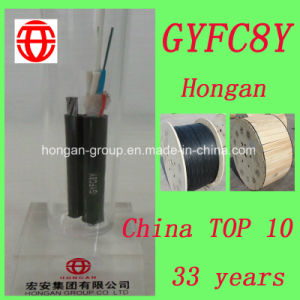 Gyfc8y 12 Core Self-Supporting Figure 8 Optical Fiber Cable Single Mode Fiber for Aerial pictures & photos