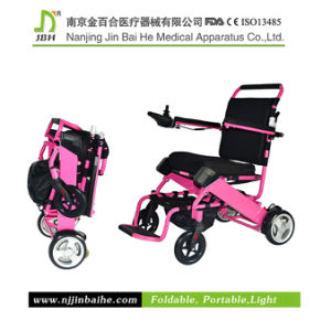 Lightweight Aluminum Foldable Electric Standard Size Wheelchair pictures & photos