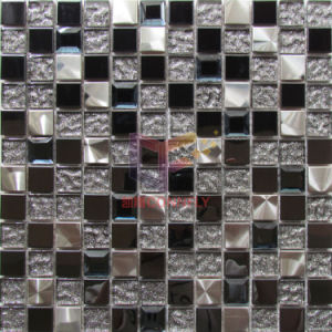 Glass Mirror Mix Stainless Steel Decoration Mosaic (CFM1081) pictures & photos