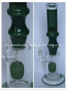 Green Bamboo Smoking Glass Pipes with Microphone Percolator pictures & photos