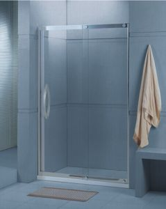 Bathroom Tempered Glass Sliding Shower Screen (H001) pictures & photos