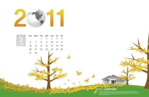 New Monthly Wall Calendar for 2015 New Year Gift pictures & photos
