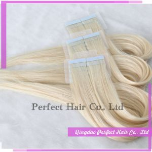 100% European Hair Wholesale Tape Hair Extensions pictures & photos