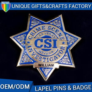 Top Quality Star Shape Police Lapel Pin Badge, Logo Custom pictures & photos