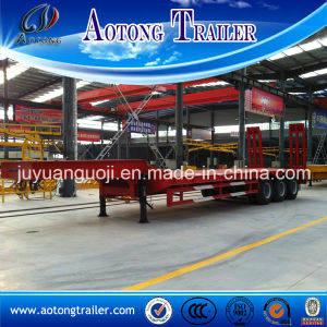3 Axle Drop Deck Semi Trailer, 50 Tons Low Loader Trailer pictures & photos