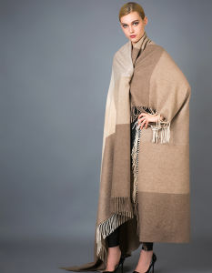 100% Alashan Cashmere Blanket, Soft/Luxurious Plaid Fashion Cashmere Blanket pictures & photos