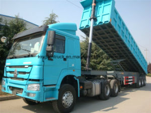 China Three Axles Rear Dump Trailer pictures & photos