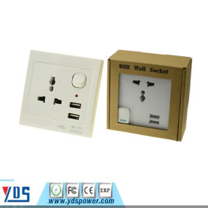 Universal USB Wall Socket PC Fire-Proof Material 5V 2.1A pictures & photos