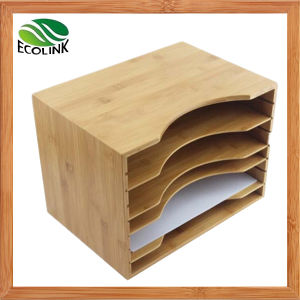 Bamboo Desktop Document Holder / File Holder for Office pictures & photos